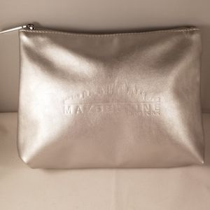 """Maybelline New York"" Silver Cosmetics Bag"